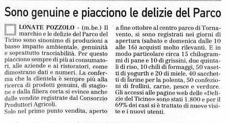 La Prealpina del 31 dicembre 2009