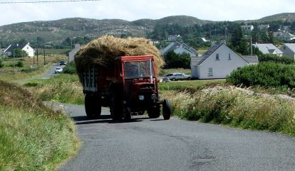 Donegal - bringing home the hay on the road to Dungloe
