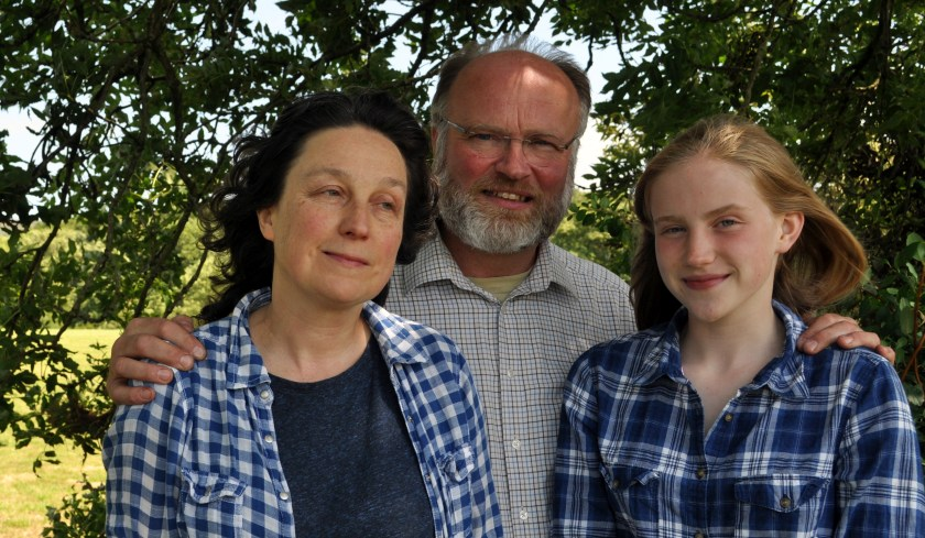 Dr David Neilson, wife Carolyn and daughter Amelia