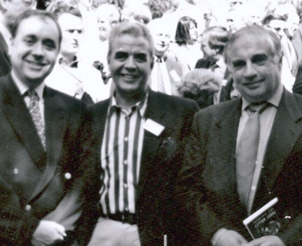 Bill with Alex Salmond and Peter Sutherland