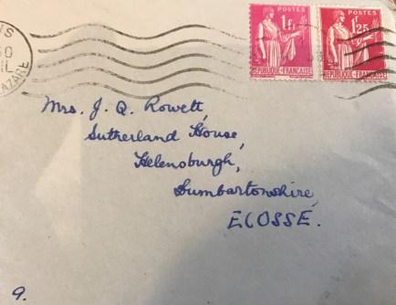 Chojecki envelope to Helensburgh address