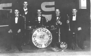 Regency dance band with Harry Cuddy Mair head of chemistry at the Academy and drummer George Hepburn