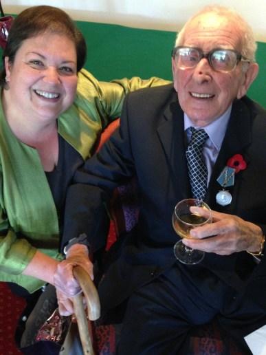 Convoys Arthur McWatt congratulated by Jackie Baillie MSP