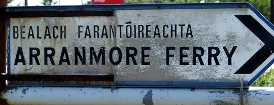 Wild Donegal - sign for the ferry from Burtonport