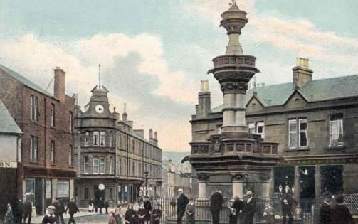Alexandria Fountain and Bank Street