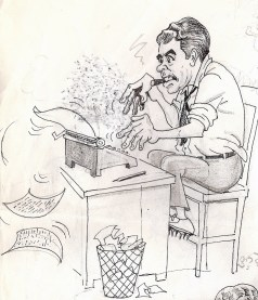 Caricature of Bill by Stevie Conroy