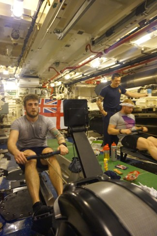 Rowers on a sub with pic
