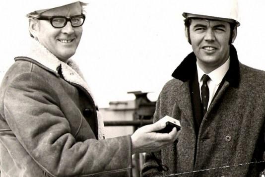 Bill with Craig Jeffrey at Erskine Bridge under construction-1