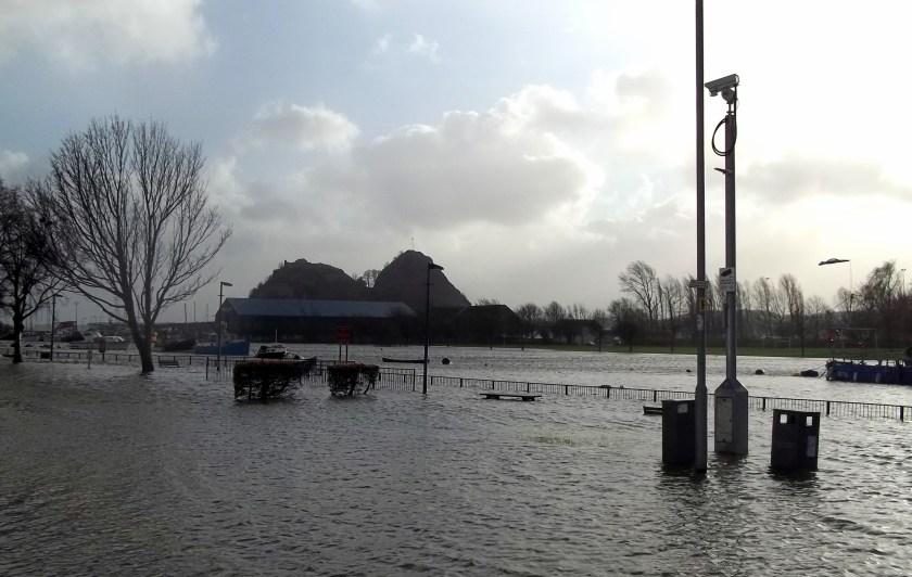 Floods at Dumbarton Quays
