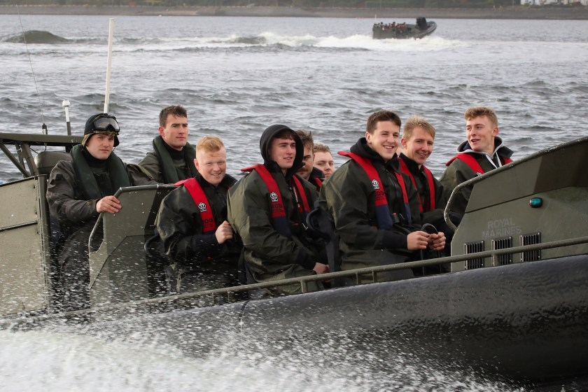 Royal Marines Host Scotish rugby academy