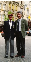 Bill with James Aitken in Ypres