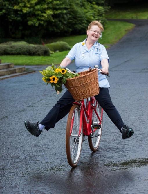 LAOS bike riding nurse