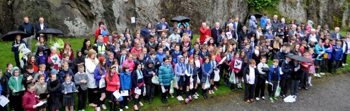 SECTARIANISM: Dumbarton schools against it gather on Dumbarton Rock for a short service.