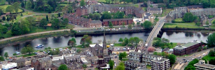 Dumbarton from the air 4