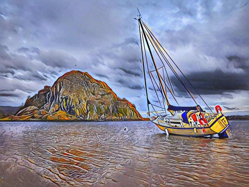 yacht aground 1