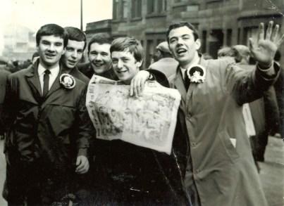 Bill, John McCann, John McIntosh, Andy Mallon and Peter McCutcheon at Hampden