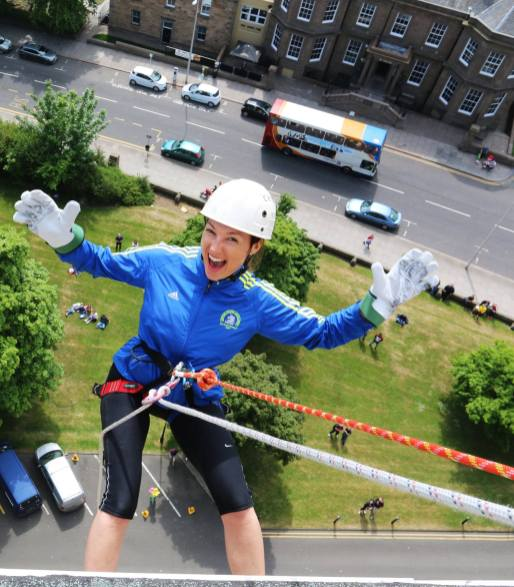 Petra abseiling in Dundee