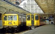 DML Helensburgh Central blue trains