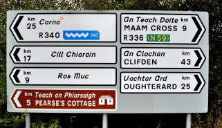 Connemara road signs