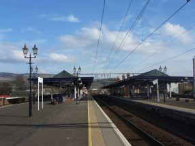 Dumbarton Central Station by Arthur Jones