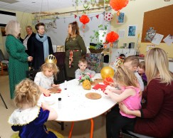 Pictured: HRH The Princess Royal meets children and staff from Drumfork Nursery. HER Royal Highness The Princess Royal opened a renovated facility at the heart of Helensburgh in Argyll and Bute today (January 24). The Drumfork Community Centre in Helensburgh's Churchill Square has undergone £2M of work, with much of the funding coming from the Royal Navy and Royal Marines Charity (RNRMC). The new centre will be a hub for military personnel, their families and members of the wider community.