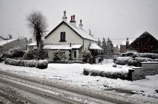 snow - Miller's Farm in Round Riding Road, Dumbarton.