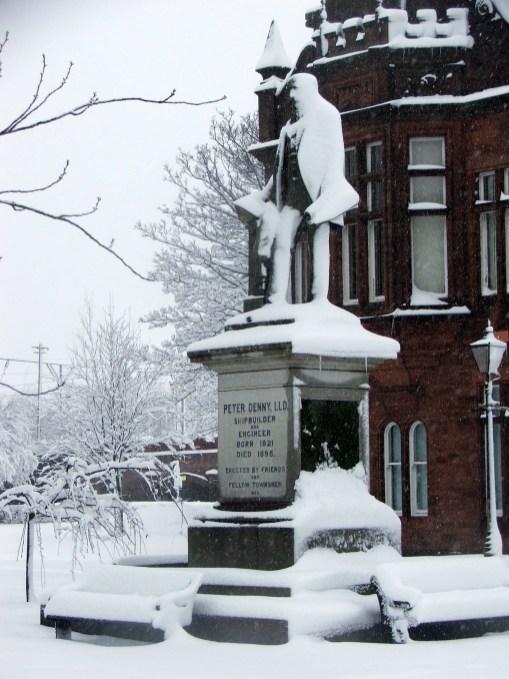 SNOW - PETER DENNY STATUE