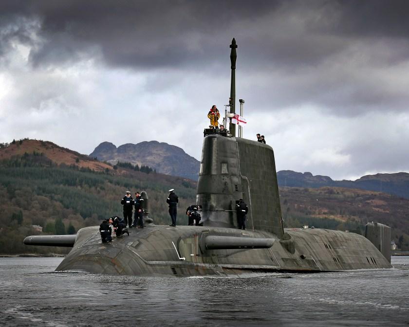 HMS ASTUTE sails.