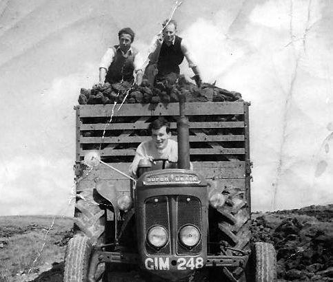 Coal - bringing home the turf in Connemara