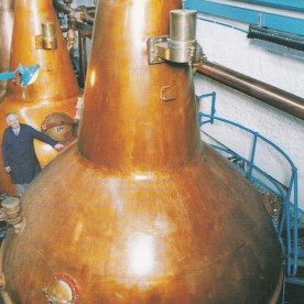 distillery - copper vats in which whisky is distilled