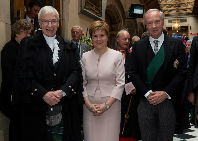 """Saturday 18th of May 2019: Day one of the General Assembly of the Church of Scotland, Edinburgh. Kirk Moderator installed at General Assembly 2019 Rt Rev Colin Sinclair has been installed as Moderator of the Church of Scotland's 2019 General Assembly during Saturday's opening ceremony. He takes on the year-long role from his post as minister for Palmerston Place Church in Edinburgh. """"Let me thank you for affording me this singular honour at being appointed at the Moderator of the General Assembly of the Church of Scotland,"""" the newly installed Moderator told the Assembly. """"For your grace, love, and forgiveness when I get it wrong, I thank all of you who have invested time into my life and my ministry. """"It all started with a Scripture Union holiday, I little knew then how the story of Jesus and his life, death and resurrection would get under my skin and never get out. """"I thank you to all who nurtured me in this faith. """"I had no idea when Jesus said 'Follow Me' all those years ago, how exciting the adventure would be. """"How it would take me around the world. And I thank You again - I pray I am worthy of the trust You have shown to me."""" During the opening session of this year's General Assembly, His Grace Richard Walter John Montagu Douglas Scott, The Duke of Buccleuch and Queensberry, KBE, DL, FSA, FRSE, represented HM The Queen as the Lord High Commissioner to the Assembly. The Lord High Commissioner welcomed the new Moderator during his speech, saying: """"I begin by offering warmest congratulations on your appointment and by wishing you a richly rewarding year in office. """"Unlike your predecessor you have not had to travel far but for a year you will now be transported into a different world. """"That you have the most wonderful family, all committed to the church, to support you, that there are legions of friends and colleagues here and across many lands, gained through the Scripture Union is testament to your powers of loving leadership and inspiration. """"You are fitted """