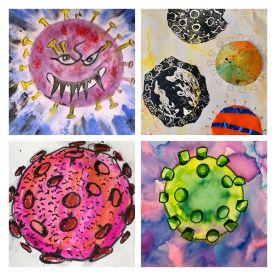 virus paintings from Gemma