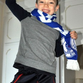 Ben and Rangers scarf 4