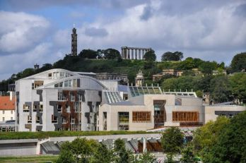 Holyrood parliament building