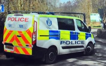 virus police van