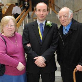 Biagi, Tony, Mark and Mary at Scottish Parliament