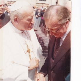 FRank and Pope John Paul II