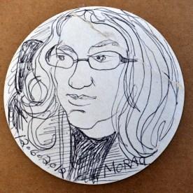 Morag portrait by Alasdair Gray