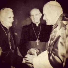 Popes Francis, Benedict and JPII