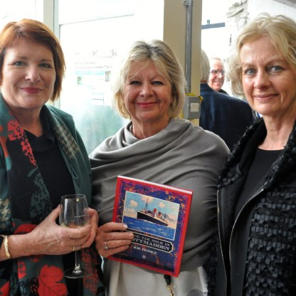 Boske - Treena Sweeney, Patricia Flaherty with a copy of the Boske book, and Kay Mitchell.