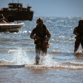 Royal Marines of 45 Commando on exercises in Scotland