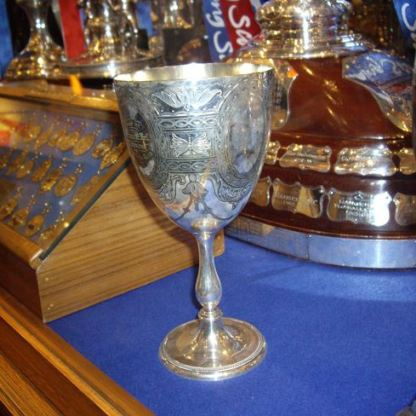 Rangers' Garelochhead sprint cup in Ibrox trophy room