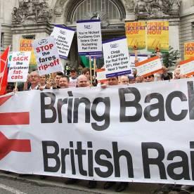 trains fare protest