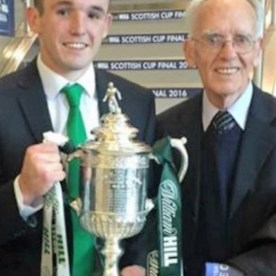 John and Jack McGinn with the Scottish Cup