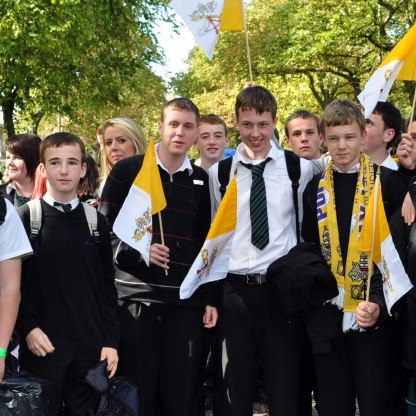 Papal Mass - Pupils from OLSP at the Papal Mass in Glasgow.