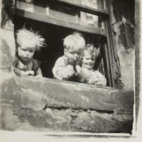 Eardley - Three Children at a Tenement Window c 1955-60 by Joan Eardley