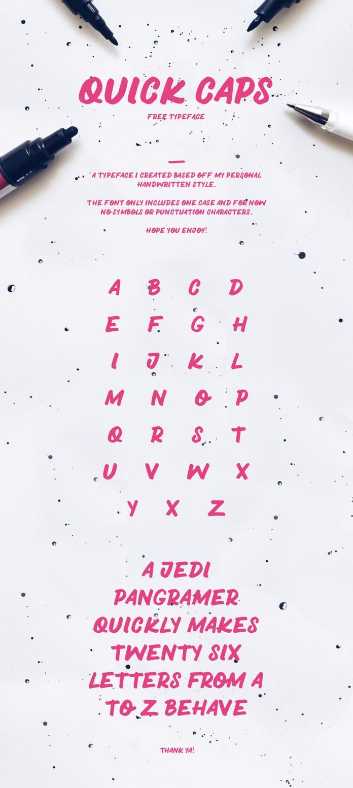 QUICK CAPS Typeface