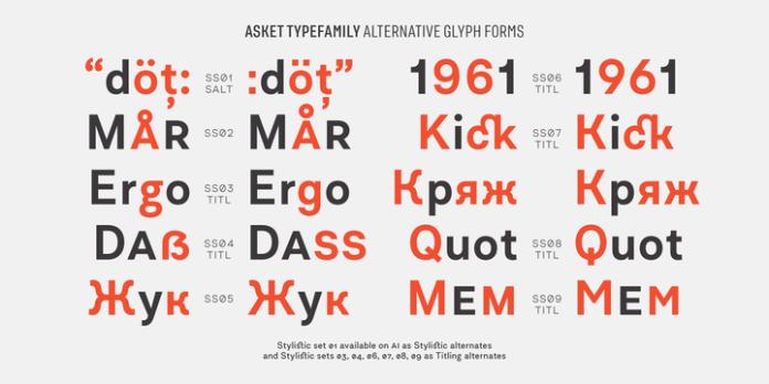 Asket Font Family