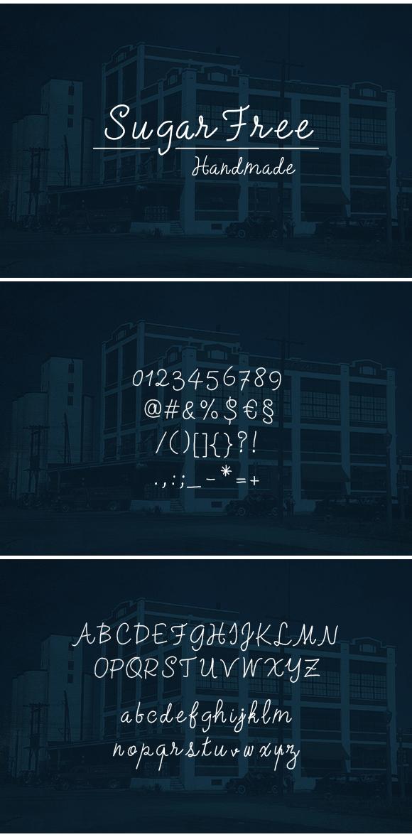 SugarFree Handmade Font