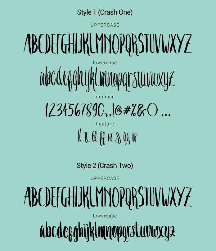 Crash One Typeface